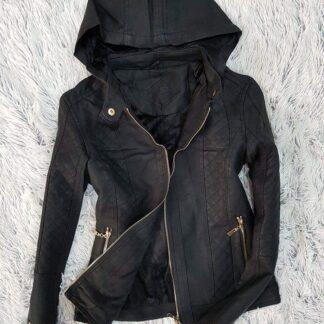 ebb8e9aee797 Dámska kožená bunda s kapucňou – eBlšák – Verejný eShop