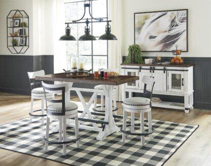 stolička barová nízka biela